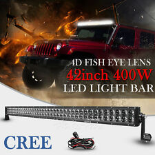 42Inch 400W CREE LED Work Light Bar Spot Flood Offroad UTE Driving Truck 4WD 40""