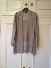 Per Una Light Grey Long Cardigan Size 14