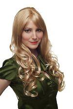 Perücke heller blond-mix Locken lang wig 285-27T88 Kopfhautimitat am Scheitel