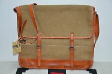 Ralph Lauren RRL Leather & Canvas Briefcase Shoulder Messenger Bag