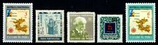 Portuguese India 5 Different Mint Stamps-Map-Dr. Gama-Father Jose-Surcharged