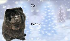 Chow Chow Christmas Labels by Starprint - No 2