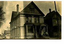 Large House-Address of Home in Minnesota-RPPC-Vintage Real Photo Postcard