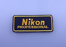 Embroidered Patch Iron Sew Logo NIKON camera photo lens