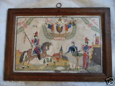 DESSIN ENCADRE LANCIERS GARDE IMPERIALE NAPOLEON III / EPOQUE SECOND EMPIRE