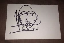 VANILLA ICE SIGNED 6X4 SIZE WHITE CARD MUSIC & FILM AUTOGRAPH  100% GENUINE