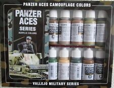 Val70179-Av Vallejo Modelo Color Set-Panzer Aces Camuflaje Colores (x16)