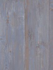 Blue Washed Wood Planks with Wood Grain and Knots Sure Strip Wallpaper WG0306
