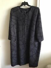 Eileen Fisher Printed ALPACA Wool Coat  WOMEN'S  PLUS SIZE 3X, NEW