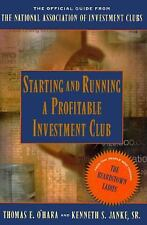 STARTING & RUNNING A PROFITABLE INVESTMENT CLUB SC 1996