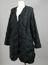 Absolut by Zebra cotton polyester black lagenlook bubble trench coat mac size 3