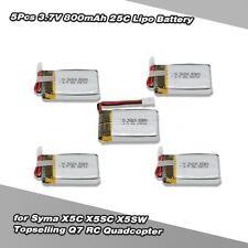 5Pcs 3.7V 800mAh 25C Lipo Battery for Syma X5C X5SC Topselling Q7 RC Drone E5Z9