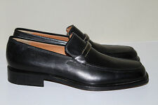 New sz 12 D Salvatore Ferragamo Sabino Bit Slip on Loafer BLACK Leather Shoes