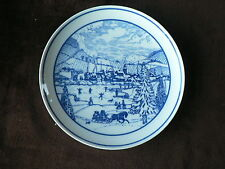 Pieroth, Germany Collector Plate: Alzeyer Christmas, Blue + White Snow Scene