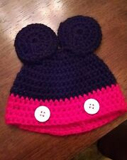 Handmade Knitted Baby Hat - with mouse ears - great for photos