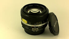 Nikon Ai NIKKOR 50mm f/1.4 Fast STANDARD Lens + Caps. 'EXCELLENT+' Condition.