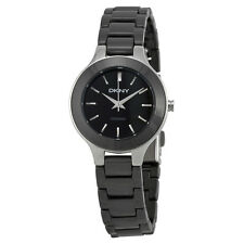 DKNY Black Dial Black Ceramic Ladies Watch NY4887