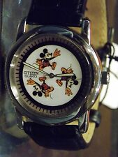 Mens Vintage Disney Citizen Mickey Mouse Watch (75 Years)-(Running Mickeys)-New
