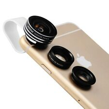 Mpow 3 in 1 Clip On 180 Degree Fisheye Lens Wide Angle Macro Lens for iPhone 7 6