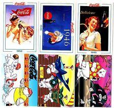 COCA COLA Lot de 6 Cartes NEUVES DIFFERENTES Lot N° COCA-L 125