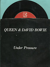 QUEEN DAVID BOWIE Under Pressure GROUP ROCK 45 RPM PS PICTURE SLEEVE RECORD