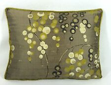 """Harlequin Iola - Lime Charcoal Gold & Cappucino Cushion Cover 16""""x12""""  Stunning"""