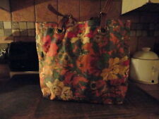 THE SAK ARTIST ORANGE FLORAL SAK ROOTS X-LARGE TOTE BAG