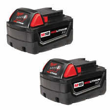 NEW MILWAUKEE 48-11-1822 M18 PK (2) CORDLESS TOOL BATTERIES 18 VOLT REDITHIUM XC