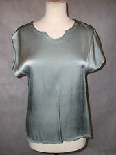 NEW WITH TAGS silvery pale green SAHARA top M 12