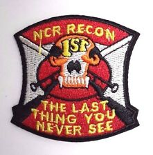 "Fallout ""Last Thing ..Never See""  NCR Recon 2.5"" Tall  Patch-FREE S&H (FOPA-04)"