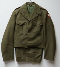 Vintage 1950 US Army MEN's Winter Wool Field/Dress Trousers & Jacket Olive Drab