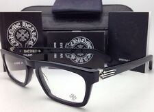 New CHROME HEARTS Eyeglasses JUST THE TIP MBK 52-19 Black Frame /Sterling Silver
