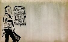 BANKSY GRAFFITI GIRL SPRAY PAINT ART PHOTO POSTER PRINT 8x11