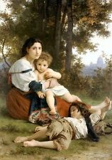 Rest, Le Repos by William Bouguereau Canvas or Giclee Picture Poster Print NEW