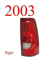 03 Chevy Right Tail Light, Silverado, 2003 Only, Drivers Side GM2801161