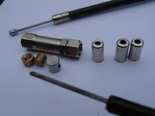 VELOCETTE KSS THROTTLE CABLE KIT, NYLON FODERATO,