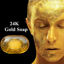 Active 24K Gold Handmade Soaps Anti Wrinkle Whitening Skin Facial Care Cleansers