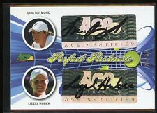 Ace Authentic Signature Tennis DUAL AUTO - LISA RAYMOND/LIEZEL HUBER #25/35