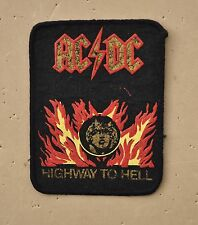 vintage AC/DC cloth badge patch rock music band Angus Young Highway to Hell