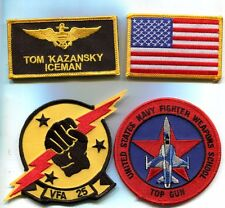 TOM ICEMAN KAZANSKY TOP GUN F-5 MOVIE US Navy F-14 TOMCAT Squadron Patch Set