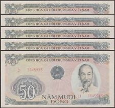 TWN - VIETNAM 97a - 50 Đồng 1985 XF/AU Dealers x 5 - FREE SHIPPING €150+