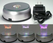 Small LED Light Stand Turntable Rotating Base for Display Crystal Cube