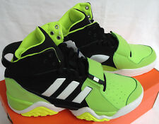 new Adidas Streetball 1.5 G99872 High-Top Black Green Basketball Shoes Men's 12