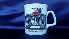 Bone China Ariel Square Four Vintage Motorcycle Mug Hand Decorated in Wales