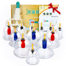 Healthy Vacuum 12 CUPPING cups Simming Therapy Massage Acupuncture cofoe