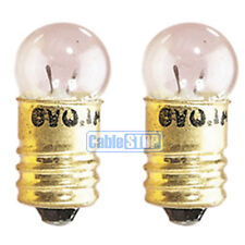 2x mini vis 6v torche ampoule twin pack 100mA mes ronde miniature fitting