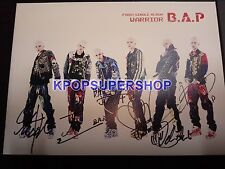 B.A.P BAP Single Album Volume 1 One Warrior Autographed Signed Promo CD