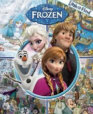 Disney Frozen Movie Look and Find-Spy/Hidden/Search Items Hardcover Book-New!