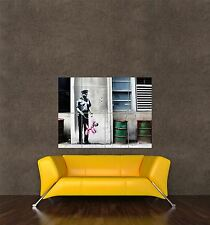 POSTER PRINT PAINTING GRAFFITI BANKSY BALLOON POLICE DOG NY ALLEY ICON SEB388