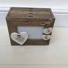 Shabby personalised Chic Special Goddaughter Godson Christening Photo Album Box